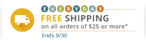 everyday FREE shipping on all orders of $25 or more.* More than 500,000 unique items in stock.