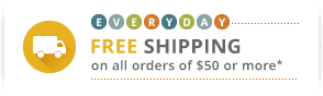 everyday FREE shipping on all orders of $50 or more.* More than 600,000 unique items in stock.