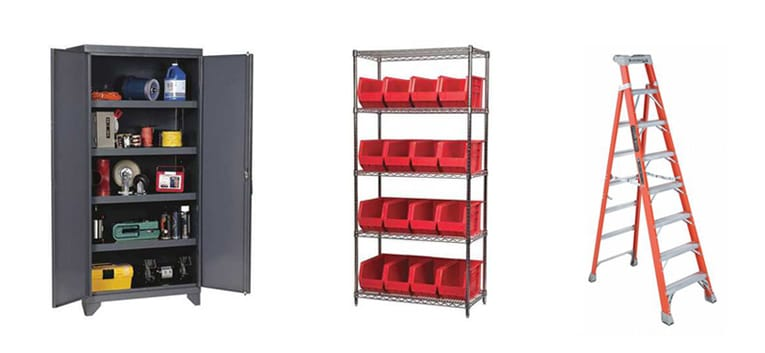 Shop Storage, Shelving & Ladders