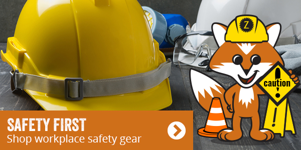 Safety first. Shop workplace safety gear.