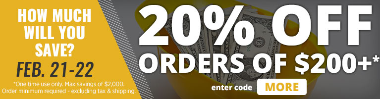 How Much Will You Save? February 21–22. 20% OFF Orders of $200+. Enter code: MORE.