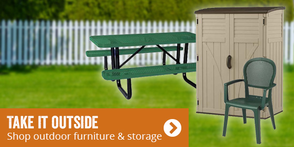 Take it outside. Shop outdoor furniture and storage.