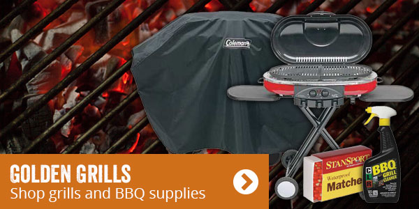 Golden grills. Shop grills and BBQ supplies.