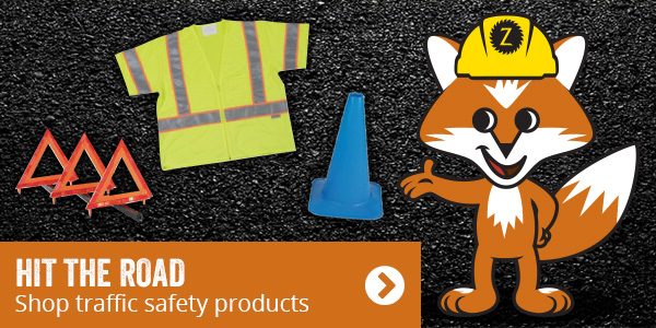 Hit the road. Shop traffic safety products.