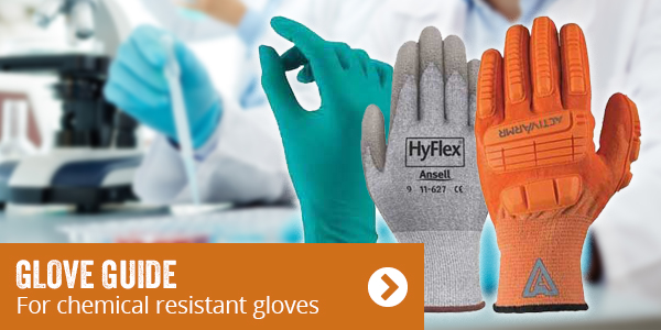 Glove guide. For chemical resistant gloves.