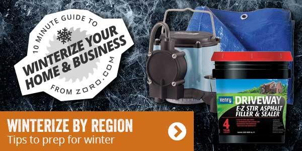 Winterize by region. Tips to prep for winter.