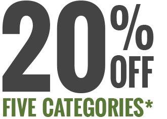 20% off on five business categories
