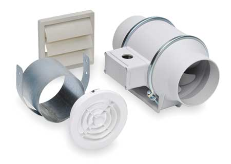 Remote mounted bath fan kits by soler palau inline for Remote inline bathroom fans