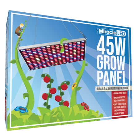 Commercial Hydroponic Multi Spectrum LED Hangable Grow Panel Hydroponic Kit Indoor Systems