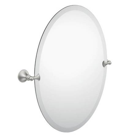 Glenshire Oval Mirror Brushed Nickel