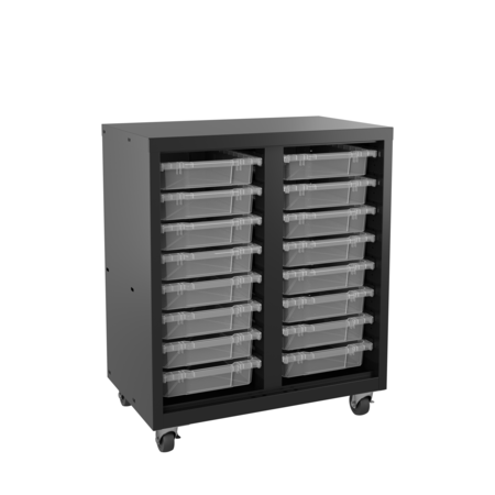 SPACE SOLUTIONS 22602 Mobile Bin Storage Cabinet with 16 ...
