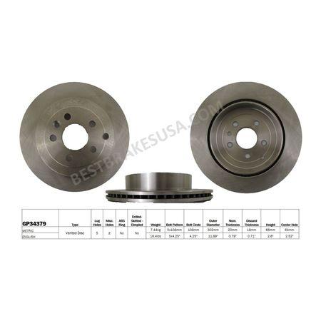 Disc Brake Rotor, GP34379