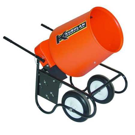 Wheelbarrow Mixer, 3.5 Cu. Ft., 120V, 3/4HP