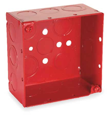 Electrical Box, Square, 30.3 cu in, Red