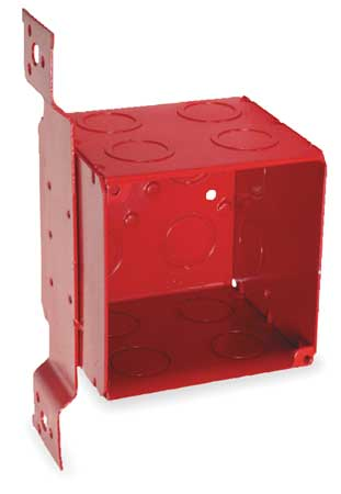Electrical Box, Square, 40.5 cu. in., Red