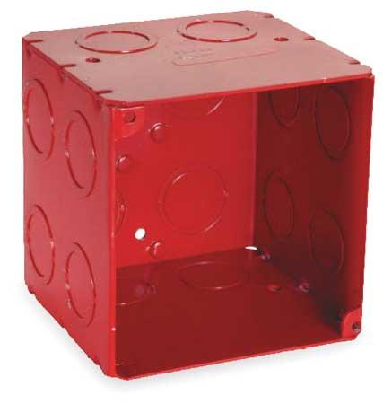 Electrical Box, 40.5 cu in, Red, 2 Gang
