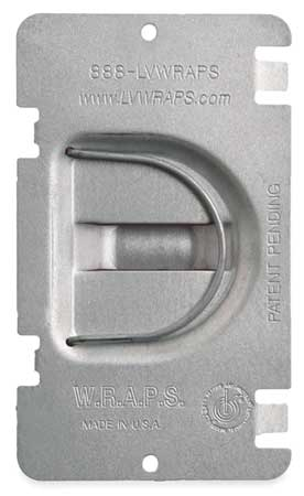 Electrical Box Cover, Flat, 5-1/4 in.,  Min. Qty 50