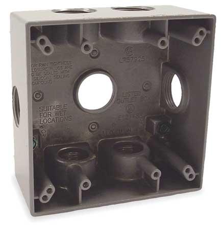 Weatherproof Box, 7 Inlets, Aluminum