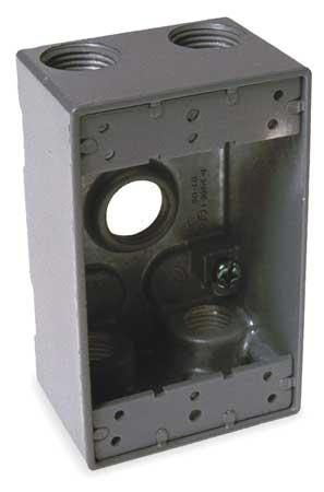 Weatherproof Box, 3/4 in Hub, Aluminum