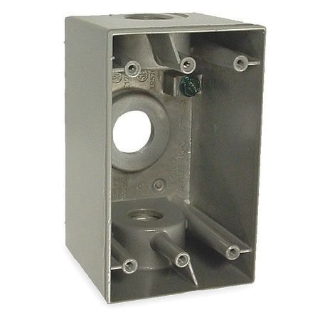 Weatherproof Box, 1/2 in Hub, 3Inlet