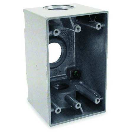 Weatherproof Box, 3/4 in Hub, 3Inlet