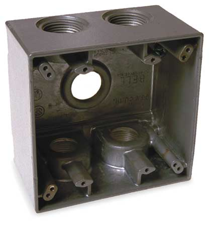 Weatherproof Box, 1 in Hub, 5Inlet