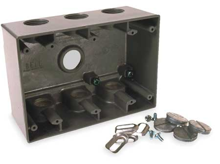 Weatherproof Box, 3/4 in Hub, 7 Inlets