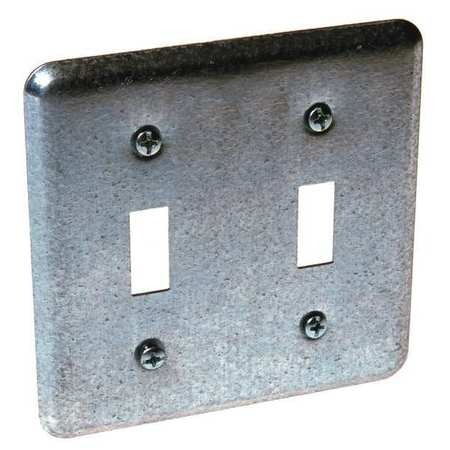 Electrical Box Cover, 2 Toggle Switches