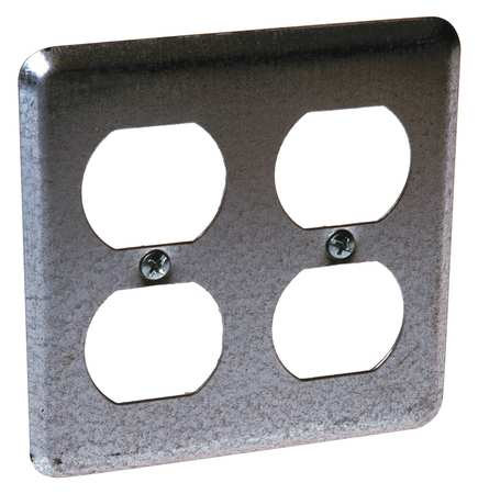 Electrical Box Cover, 2 Duplex Receptacle