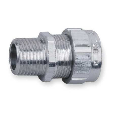 Liquid Tight Connector, 1 in., Silver