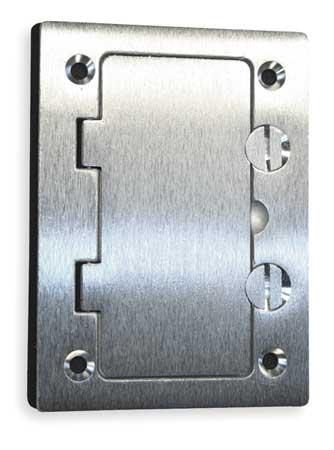 Floor Box Cover, Rectangular, Aluminum