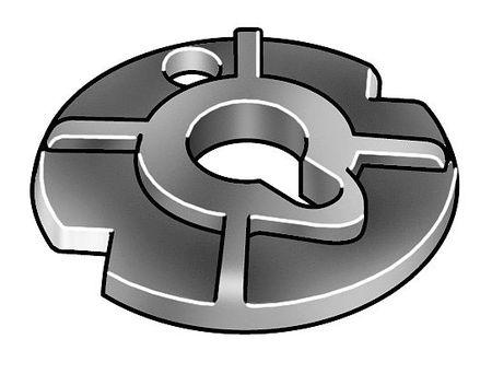 """5/8"""" x 2-3/4"""" Plain Finish Malleable Iron Raised Washers,  25 pk."""