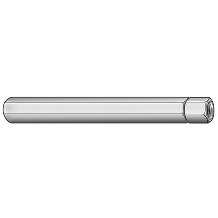 "1/4""-28 x 12"" Plain Aluminum Double End Internal Threaded Stud"