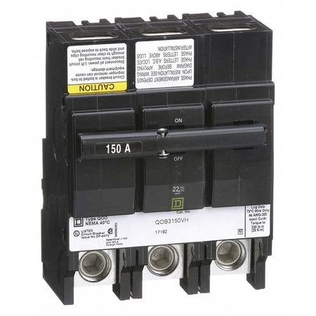 3P High Interrupt Capacity Circuit Breaker 150A 240VAC