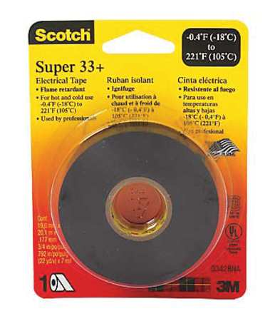 "8.5 mil Black 3//4/"" x 66 ft. POWER FIRST 19N745 Electrical Tape"