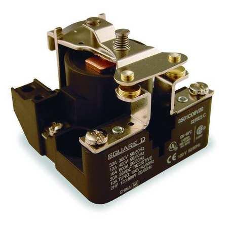 Open Power Relay, 4 Pin, 120VAC, SPST-NO