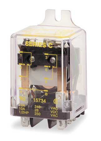 Relay, 8Pin, DPDT, 10A, 100VAC