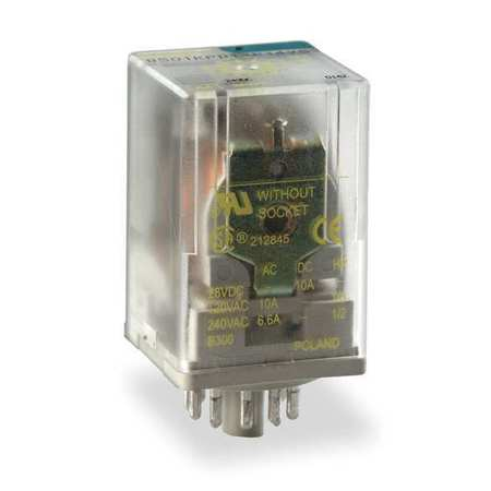 Plug In Relay, 8 Pins, Octal, 12VDC