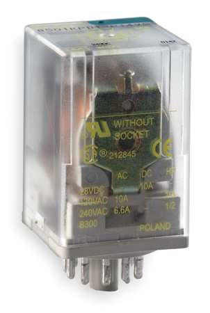 Plug In Relay, 11 Pins, Octal, 120VAC
