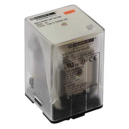 Plug In Relay, 11 Pins, Octal, 120VAC