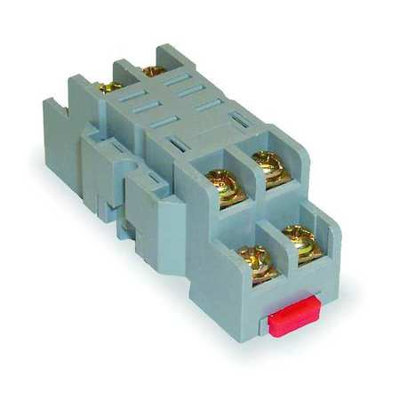 Rly Scket, Standard, Square, 8 Pin, DIN Rail