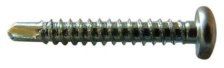"Self Drilling Screw,  #12-14,  1"" L,  PK 100"