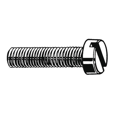 "1/4-20 x 3/4"" Pan Head Slotted Machine Screw,  100 pk."