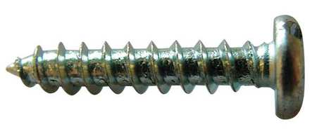 Metal Screw, Pan, #8, 1 In L, PK100