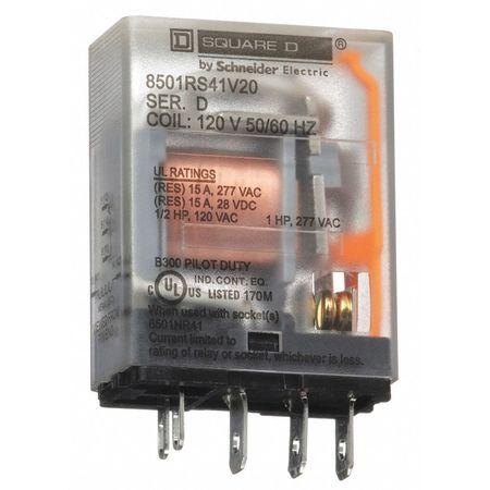 Relay, 5Pin, SPDT, 10A, 120VAC