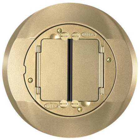 Floor Box Cover Carpet Flange, Brass
