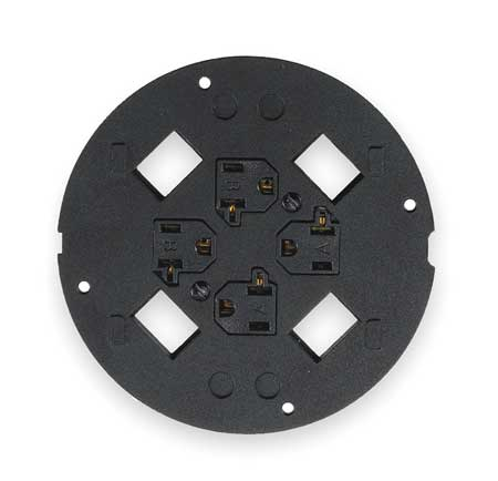 Hubbell Wiring Device-Kellems Floor Sub-Plate, SystemOne S1SP4X4   Zoro.com