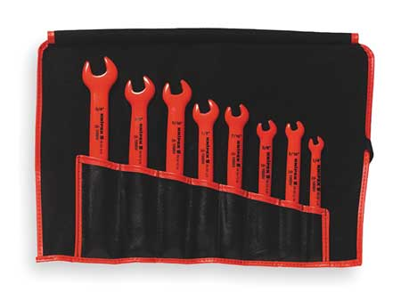 Insulated Open End Wrench Set, 8 pc.