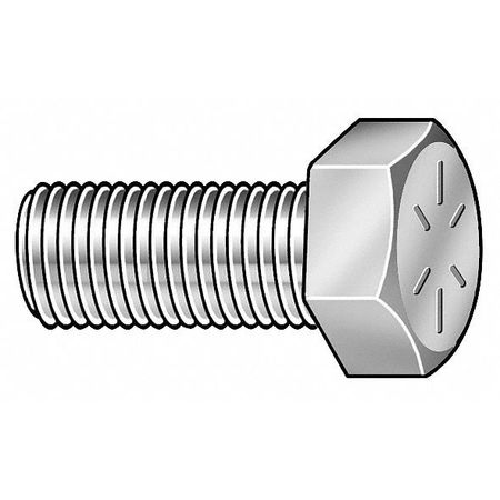 "1""-8 x 2-1/2"" Grade 8 Zinc Yellow UNC (Coarse) Hex Head Cap Screws,  10 pk."