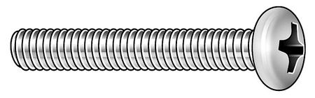 "#10-32 x 1/2"" Round Head Phillips Machine Screw,  100 pk."